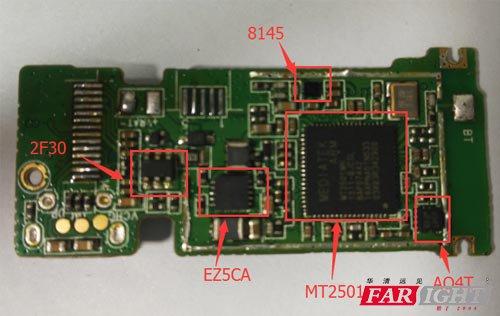 分析nuik3智能手环所使用的硬件方