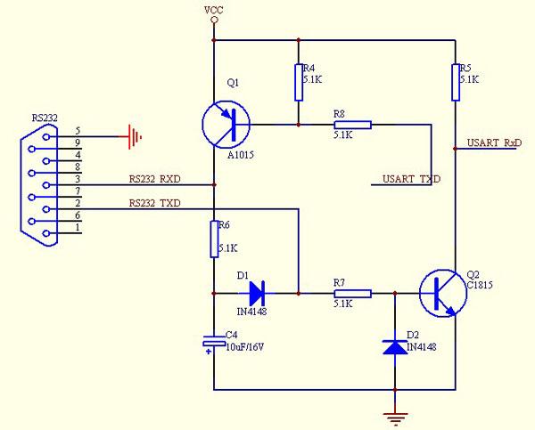 自己做rs-232/cmos电平转换电路