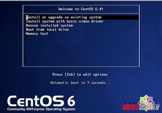 Centos Linux系统安装界面
